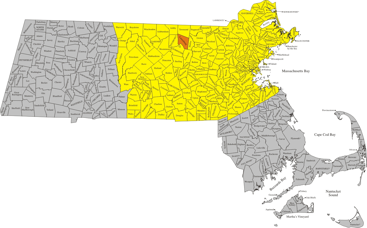 Victory Electrical Coverage Area - Massachusetts